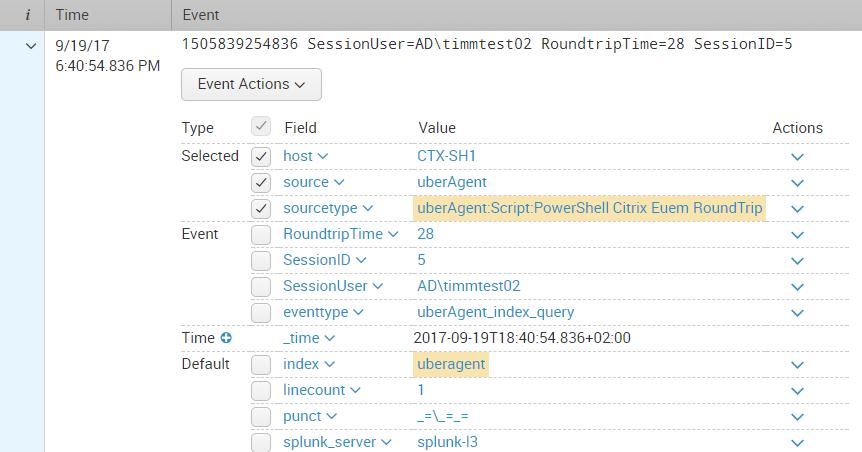 User Session Script Collecting Custom Metrics (Citrix ICA RTT
